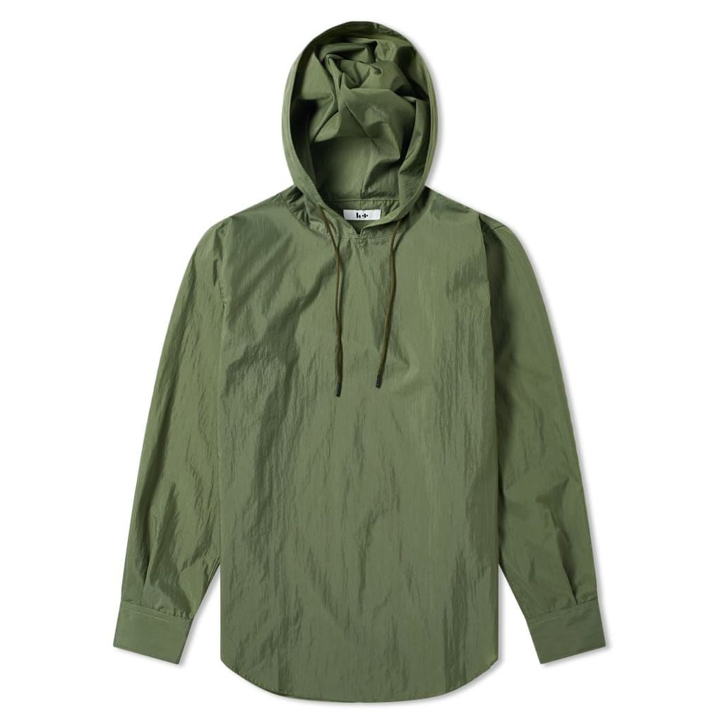 Head Porter Plus Hooded Nylon Shirt Khaki