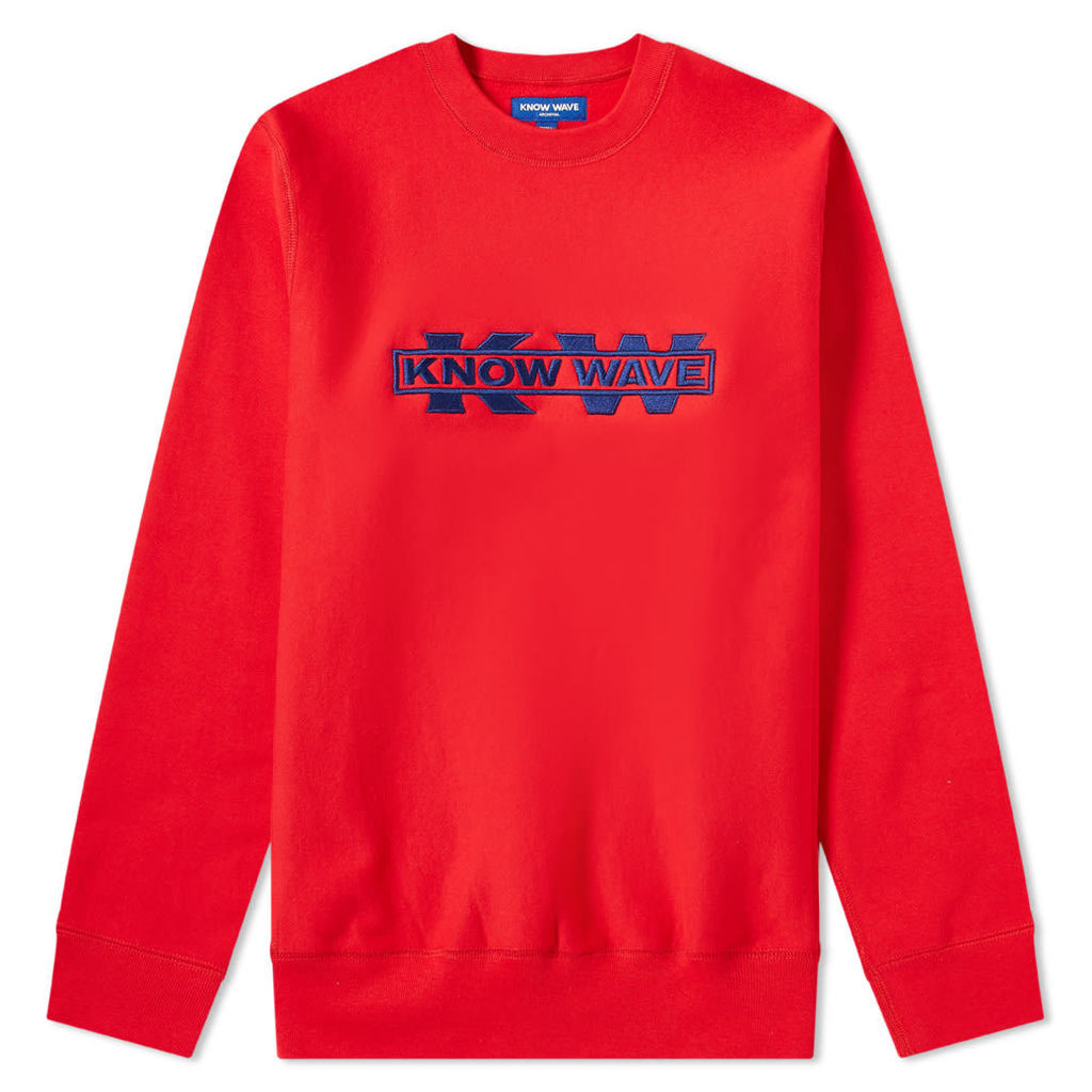 Know Wave x Black Dice Service Sector Embroidered Crew Sweat Red