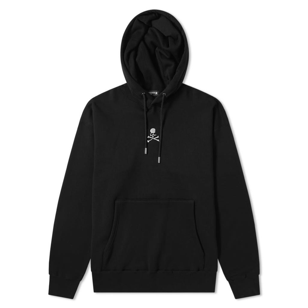 MASTERMIND WORLD Skull Boxy Chest Popover Hoody Black