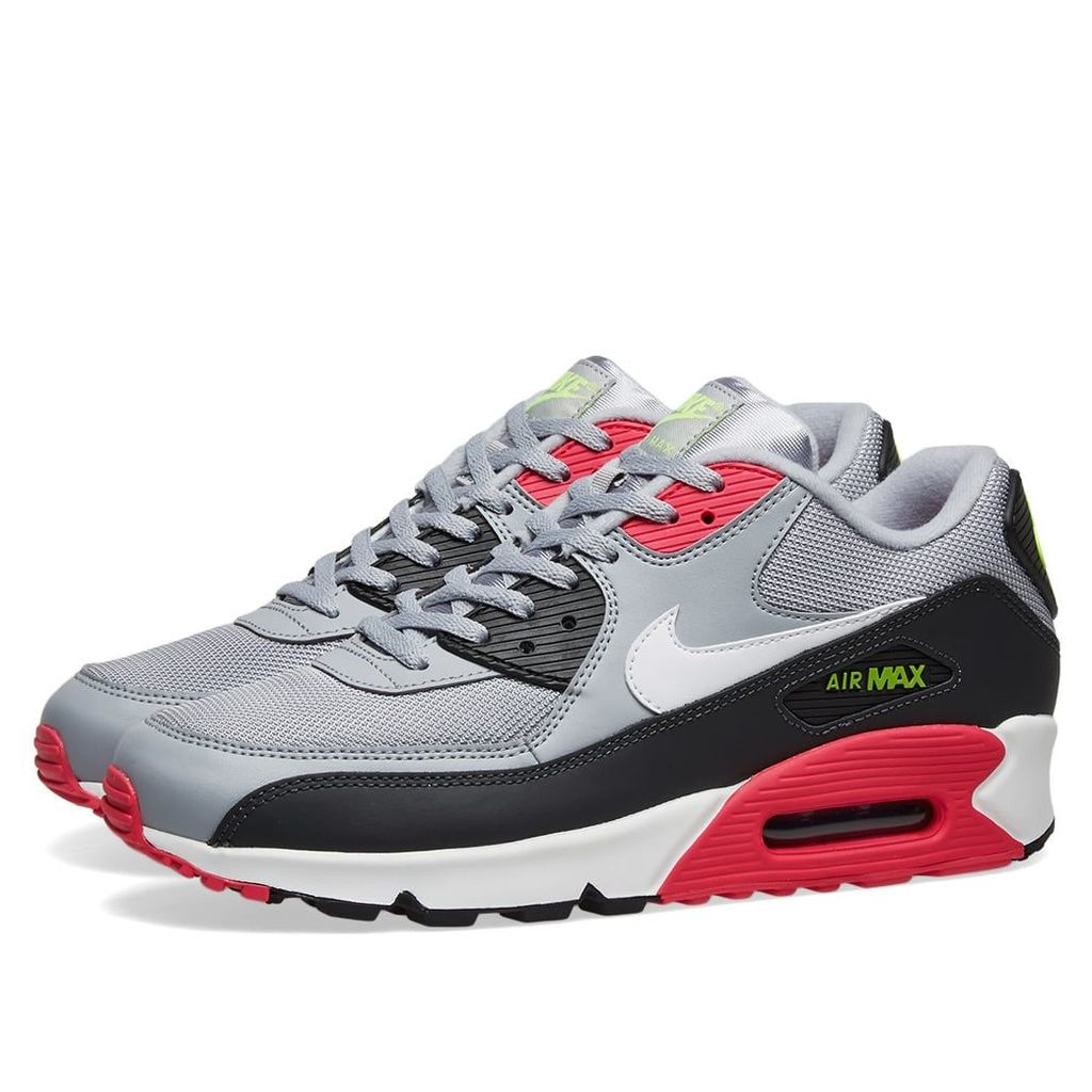 Nike Air Max 90 Essential Grey, White, Rush Pink & Volt