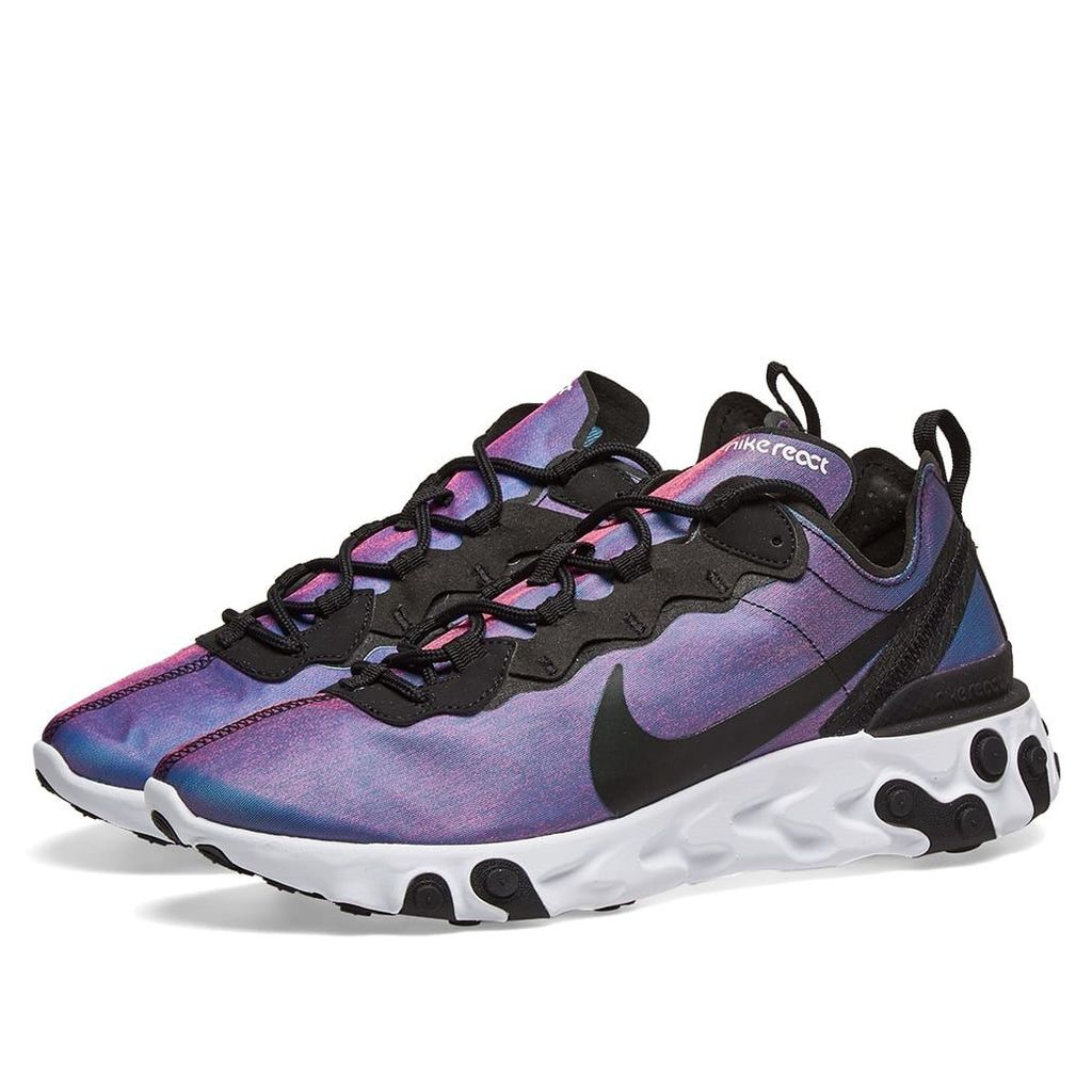 Nike React Element 55 Premium Black, Active Pink & White