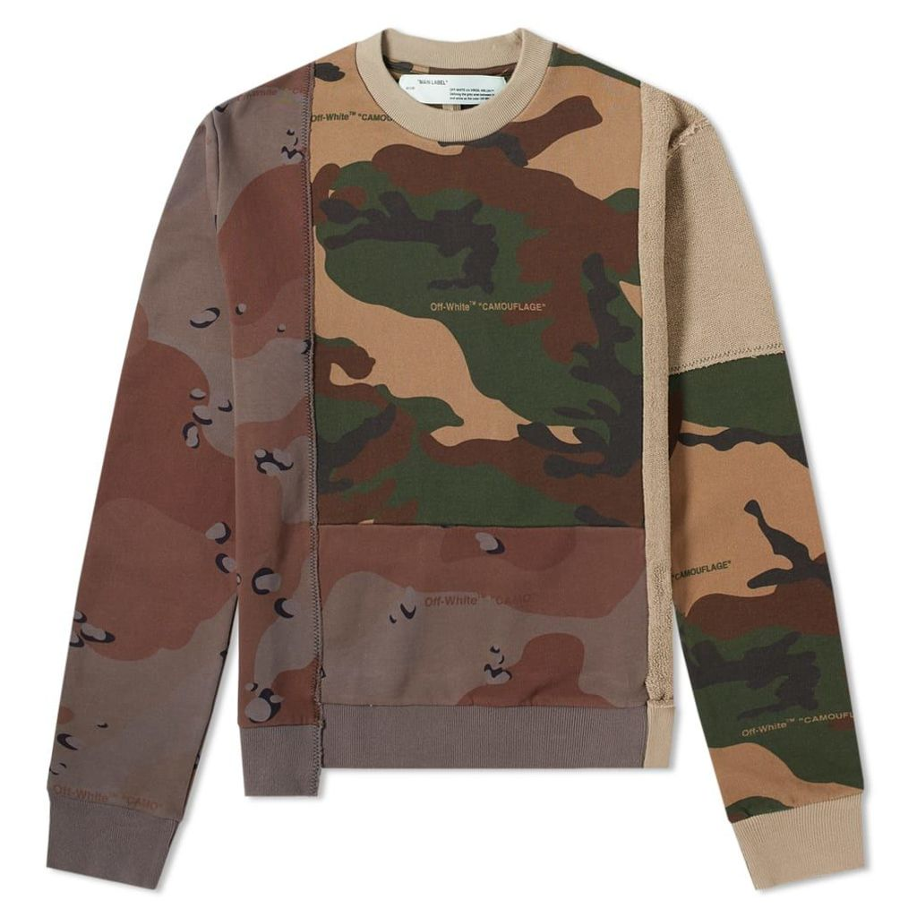 Off-White Reconstructed Camo Crew Sweat Camo
