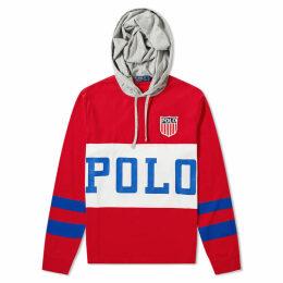 Polo Ralph Lauren Polo Logo Popover Lightweight Hoody Red Multi