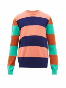Paul Smith - Striped Wool Sweater - Mens - Pink Multi