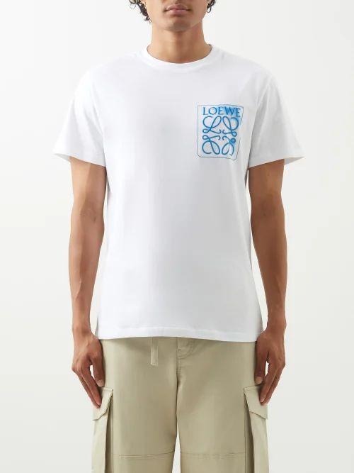 Valentino - Logo Printed Straight Leg Jeans - Mens - Blue