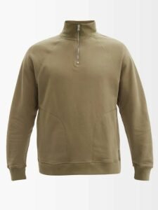 Frame - Cotton Blend Harrington Jacket - Mens - Khaki