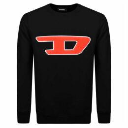 Diesel Division D Logo Sweatshirt Black