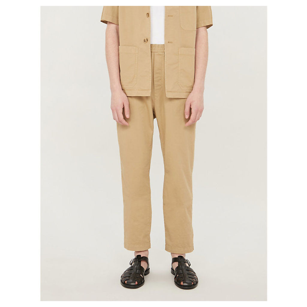 Derek regular-fit straight stretch-cotton trousers