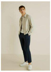 Zipper linen cotton jacket