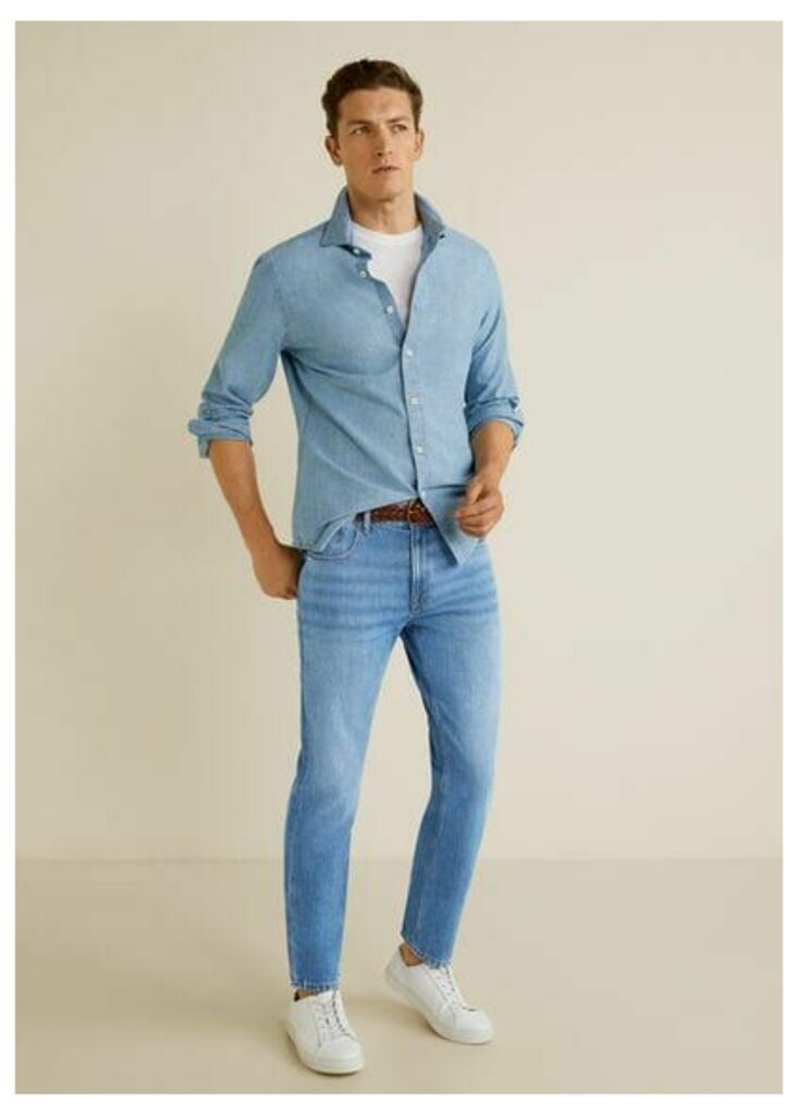 Regular-fit cropped jeans
