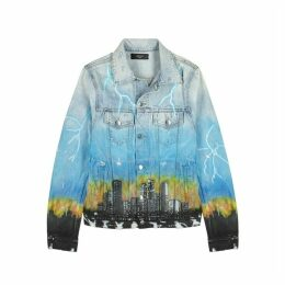 Amiri City Dragon Printed Denim Jacket