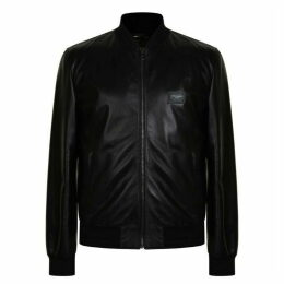 Dolce and Gabbana Leather Bomber Jacket