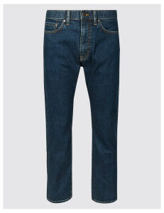 M&S Collection Shorter Length Regular Fit Stretch Jeans