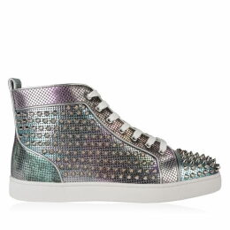 Christian Louboutin Lou Calf Spike High Top Trainers
