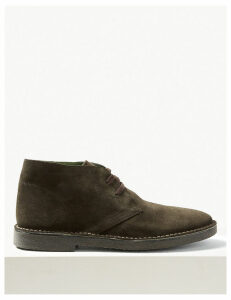 M&S Collection Suede Lace-up Desert Boots