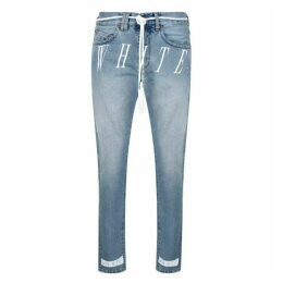 Off White Slim Logo Jeans