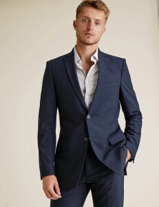 M&S Collection The Ultimate Navy Slim Fit Jacket