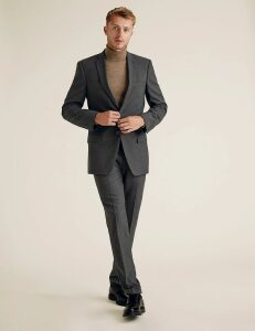 M&S Collection The Ultimate Charcoal Slim Fit Jacket