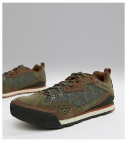 Merrell Burnt Rock festival trainers in olive