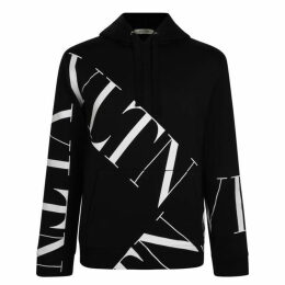 Valentino Vltn All Over Hooded Sweatshirt