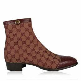 Gucci Plata Gg Boots