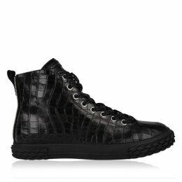 Giuseppe Zanotti Blabber Crocodile Texture Boots