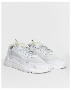 adidas Originals nite jogger trainers in triple white