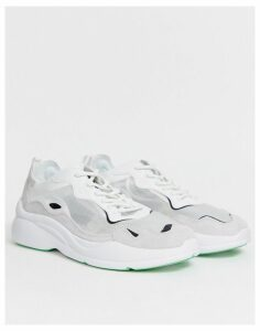 Bershka trainer with transparent upper in white