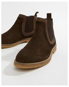 Silver Street Faux Crepe Chelsea Boot in Brown