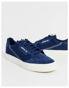 adidas Originals Continental vulc trainers in navy with suede trim