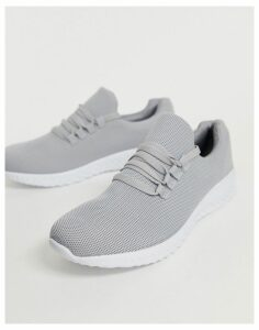 New Look knitted trainers in grey