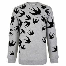 McQ Alexander McQueen Swallow Crew Neck Sweatshirt