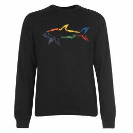 Paul And Shark Multi Colour Shark Crew Sweatshirt Mens