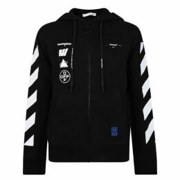 Off White Faceless Graphic Zip Sweatshirt