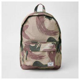 Mens River Island Herschel Green Classic camo backpack