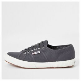 Mens River Island Superga dark Grey classic runner trainers