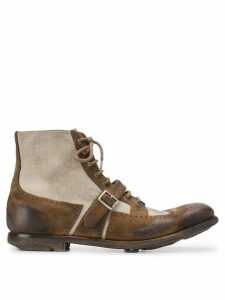 Church's panelled oxford boots - Neutrals