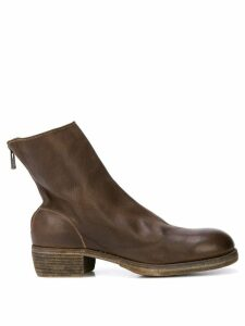 Guidi rear zip ankle boots - Brown