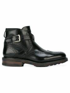 Salvatore Ferragamo buckled boots - Black