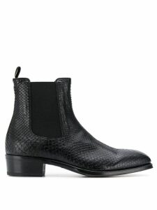 Alexander McQueen textured ankle boots - Black
