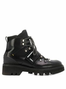 Dsquared2 touch strap ankle boots - Black