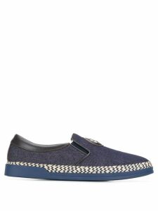 Baldinini slip-on denim sneakers - Blue