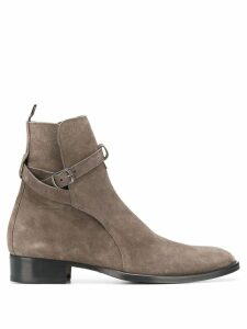 Marc Ellis side buckle ankle boots - Grey