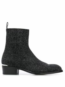 Alexander McQueen glittered ankle boots - Black
