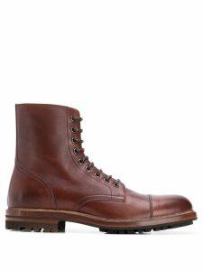 Brunello Cucinelli combat boots - Brown