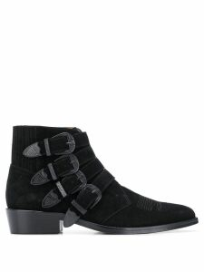 Toga Virilis multiple buckle boots - Black