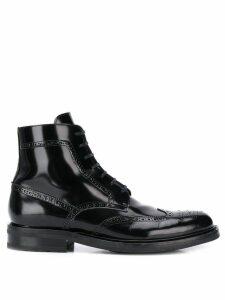 Saint Laurent army lace-up boots - Black