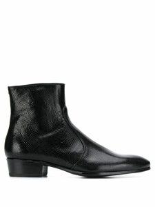 Lidfort snakeskin-effect ankle boots - Black