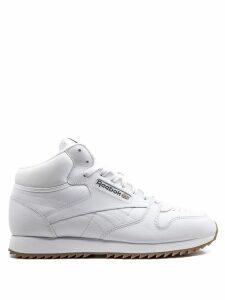 Reebok CL LTHR Mid Ripple Gum sneakers - White
