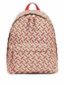 Burberry Monogram Print Nylon Backpack - NEUTRALS